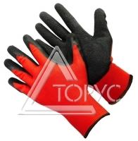 Перчатки вспененный латекс (красно-черные)