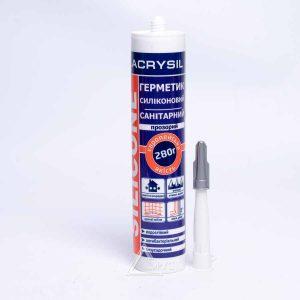 Герметик-силикон Lacrysil санитарный (фиолетов.) ПРОЗРАЧНЫЙ (280 гр)