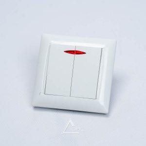 Выключатель 2-й внутр. с подсвет