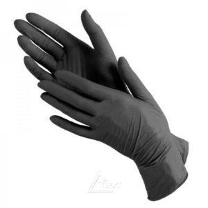 Перчатки нитрил черные M/L