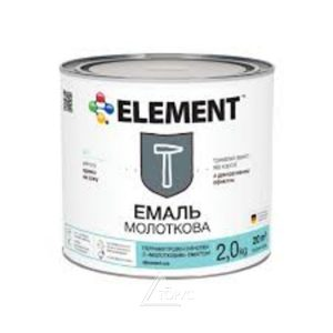 Грунт-эмаль для металла темно-коричневая молотковая Элемент (2кг)