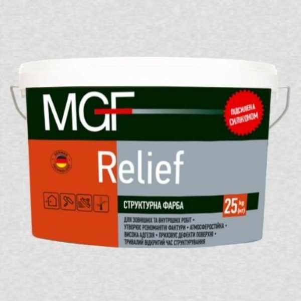 Краска структурная MGF RELIEF (15кг)