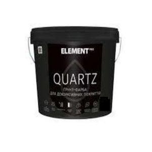 Грунтовка структурная Элемент PRO Quartz (8 кг) серый