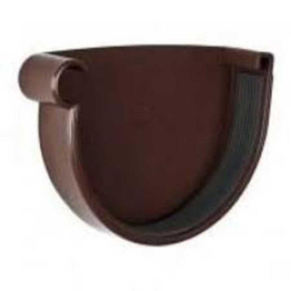 Заглушка желоба левая 90 Rainway коричневый