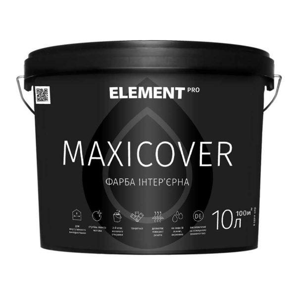 Краска Латексная Элемент PRO Maxicover  база А (10л) 14,6 кг белый матовая