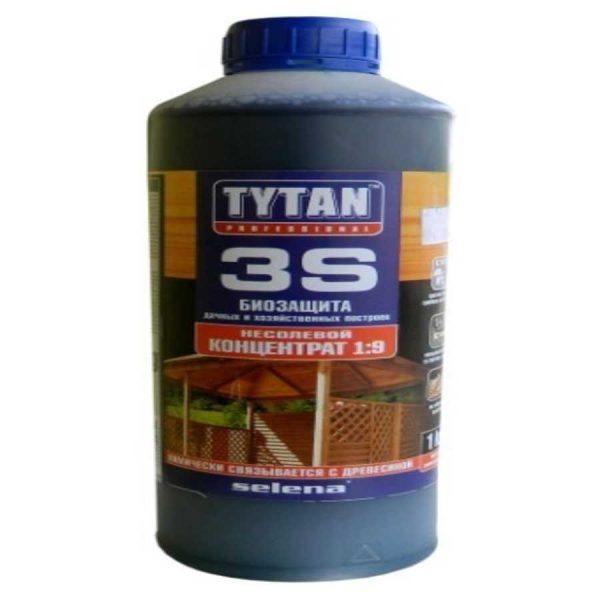 Биозащита для дерева TYTAN 3S 1 кг зеленый (концентрат 1:9)