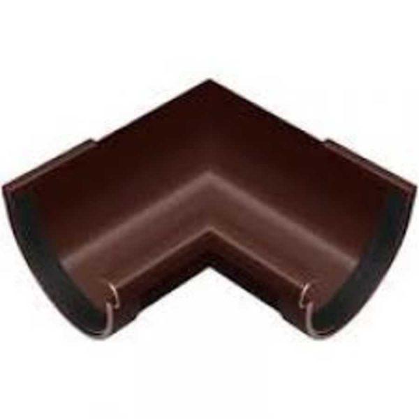 Угол желоба 90мм 90 ° наружный коричневый