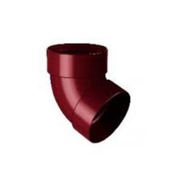 Отвод трубы двухмуфтовый 75 мм 87° Rainway коричневый