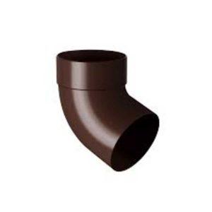 Отвод трубы одномуфтовый 75 мм 87° Rainway коричневый