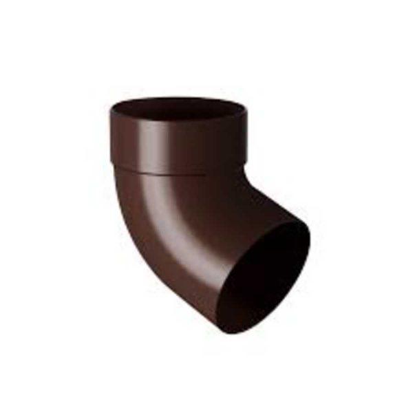 Отвод трубы одномуфтовый 75 мм 67° Rainway коричневый